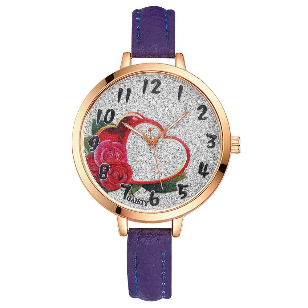 GAIETY G313 Women Leather Fashion Watch - PURPLE