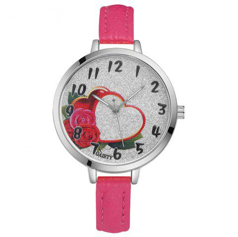 GAIETY G314 Women Fashion Silver Watch - ROSE RED