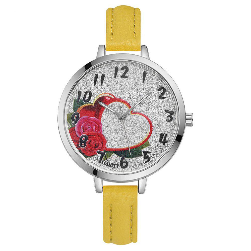 GAIETY G314 Women Fashion Silver Watch - YELLOW