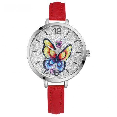 GAIETY G317 Women Fashion Leather Watch - RED