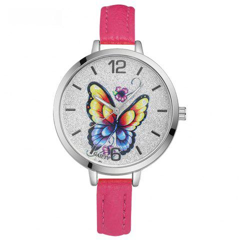 GAIETY G317 Women Fashion Leather Watch - ROSE RED
