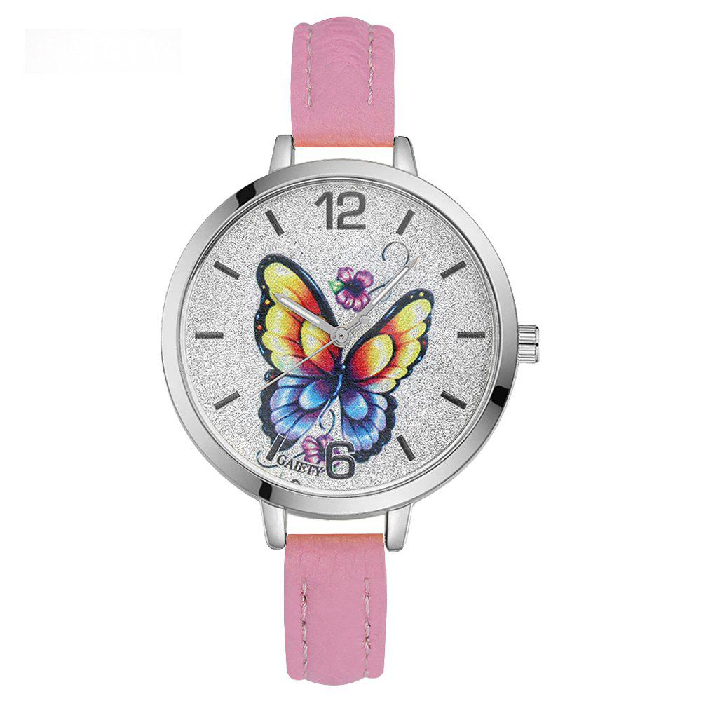 GAIETY G317 Women Fashion Leather Watch - PINK