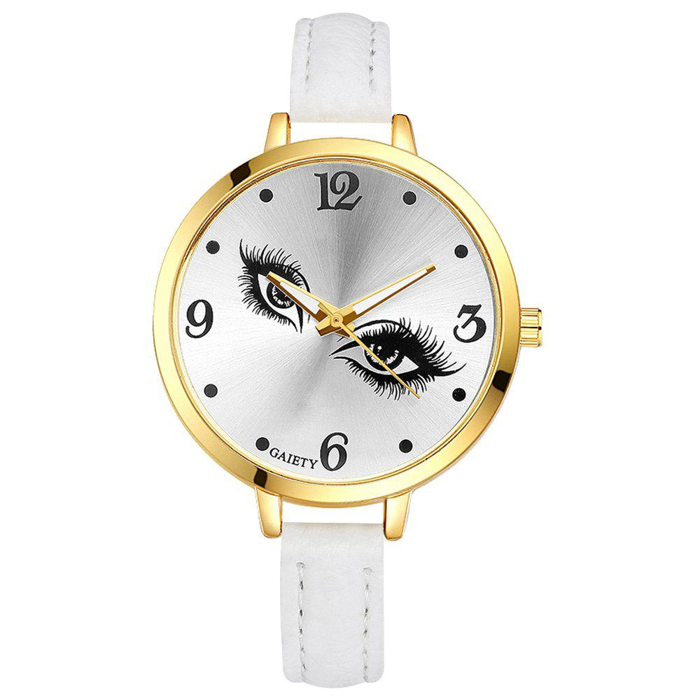 GAIETY G318 Women Fashion Leather Watch - WHITE