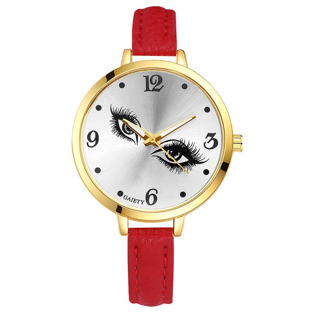 GAIETY G318 Women Fashion Leather Watch - RED