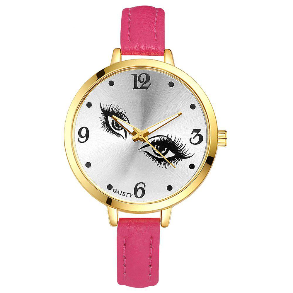GAIETY G318 Women Fashion Leather Watch - ROSE RED