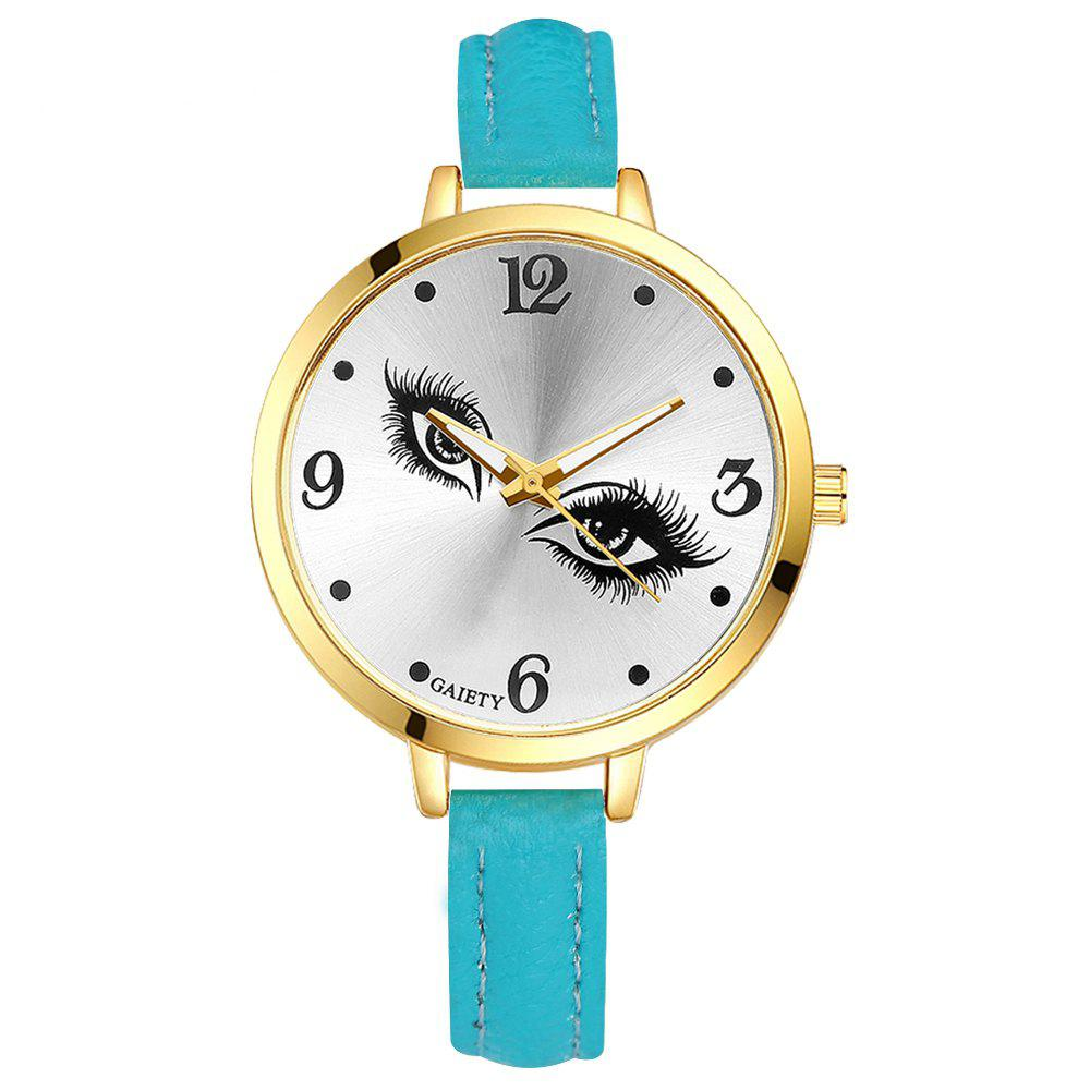 GAIETY G318 Women Fashion Leather Watch - SKYBLUE