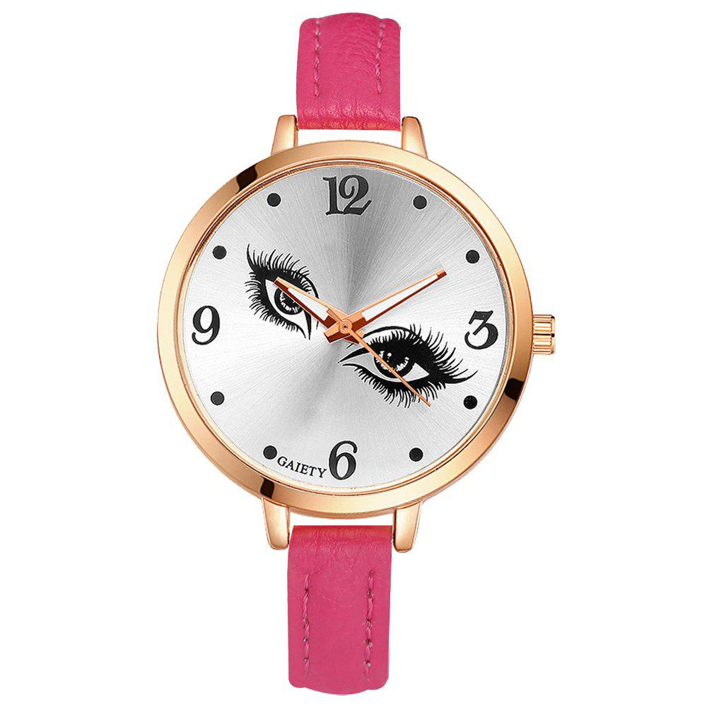 GAIETY G319 Women Fashion Leather Watch - ROSE RED