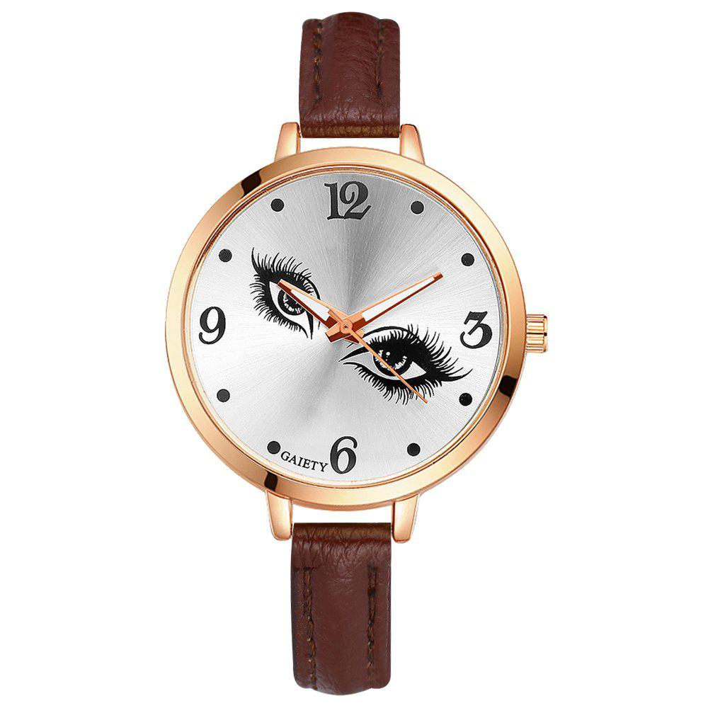 GAIETY G319 Women Fashion Leather Watch - BROWN