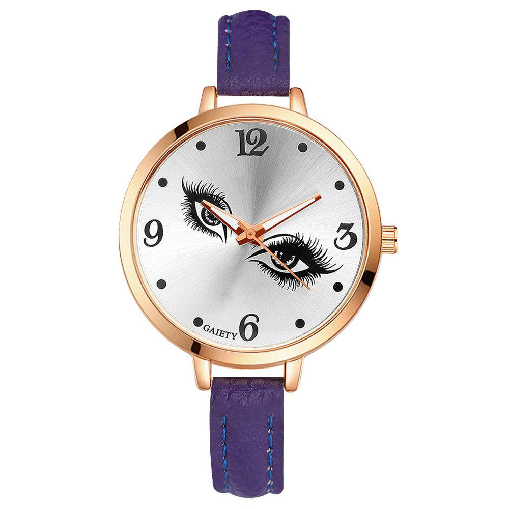 GAIETY G319 Women Fashion Leather Watch - PURPLE