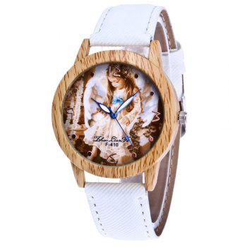 ZhouLianFa The New Trend of Casual Denim Canvas Angel Watch with Gift Box - WHITE WHITE