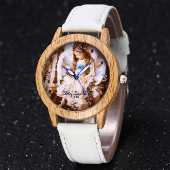 ZhouLianFa The New Trend of Casual Denim Canvas Angel Watch with Gift Box - WHITE
