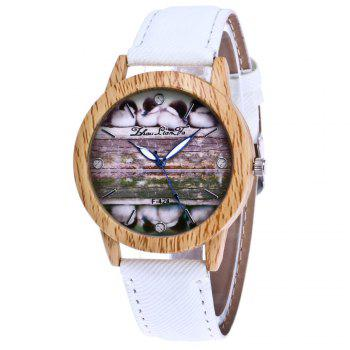 ZhouLianFa New Trend of Casual Denim Canvas Duckling Watch with Gift Box - WHITE WHITE
