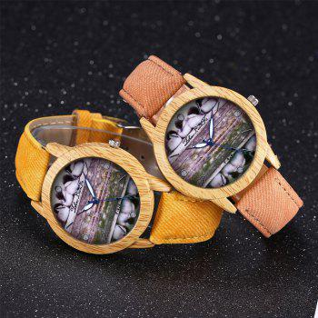 ZhouLianFa New Trend of Casual Denim Canvas Duckling Watch with Gift Box -  YELLOW