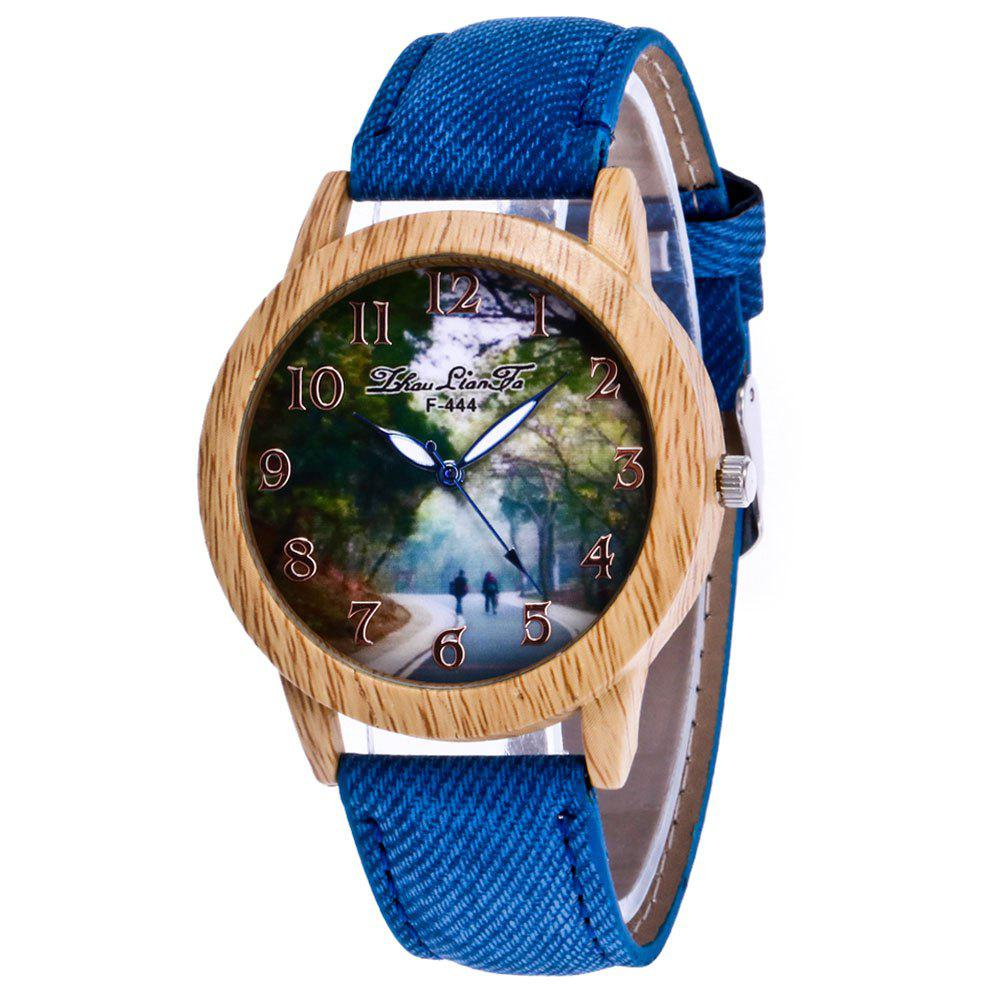 ZhouLianFa New Trend of Leisure Cowboy Canvas Hill Road Watch with Gift Box puck of pook s hill