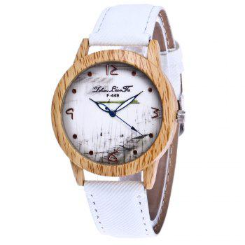 ZhouLianFa The New Trend of Casual Denim Canvas Watch with Gift Box - WHITE WHITE