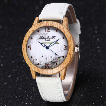 ZhouLianFa The New Trend of Casual Denim Canvas Watch with Gift Box -  WHITE