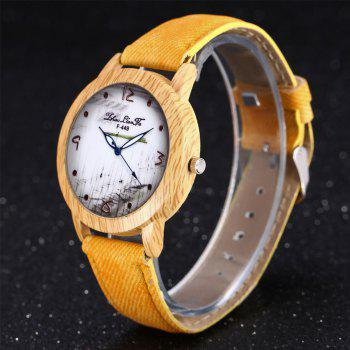 ZhouLianFa The New Trend of Casual Denim Canvas Watch with Gift Box - YELLOW