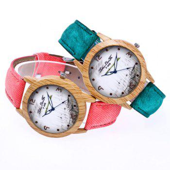 ZhouLianFa The New Trend of Casual Denim Canvas Watch with Gift Box - GREEN