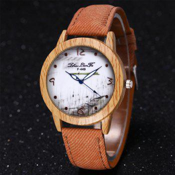 ZhouLianFa The New Trend of Casual Denim Canvas Watch with Gift Box - BEIGE