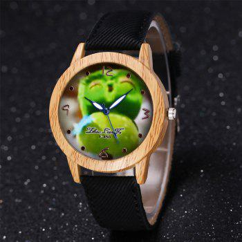 ZhouLianFa New Trend of Casual Cowboy Canvas Angry Birds Quartz Watch with Gift Box -  BLACK