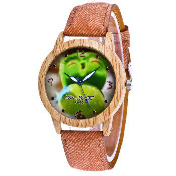 ZhouLianFa New Trend of Casual Cowboy Canvas Angry Birds Quartz Watch with Gift Box - BEIGE BEIGE