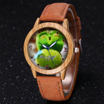 ZhouLianFa New Trend of Casual Cowboy Canvas Angry Birds Quartz Watch with Gift Box -  BEIGE
