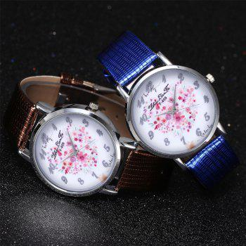 ZhouLianFa A Floral Motif of Women'S Watch Crocodile Pattern Strap with Gift Box - BLUE