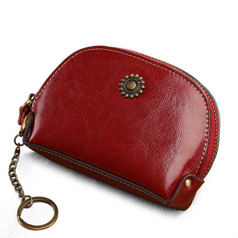 NaLandu Genuine Cow Leather Men Women Coin Purse Car Key Bag Wallet Multi Function Fashion Housekeeper Holder Rings baellerry new fashion genuine leather wallet men designer wallets men with coin pocket high capacity luxury brand men s purse
