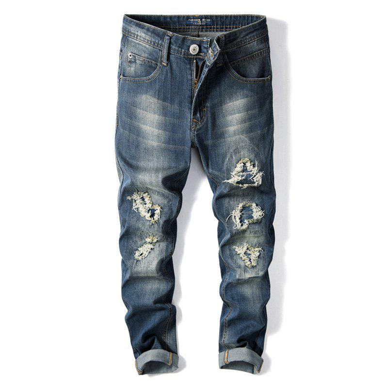 Straight Fit Denim Large size Casual Cowboys Jeans