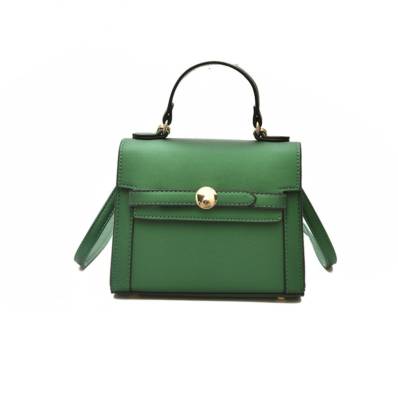 Female Wide Shoulder Strap Messenger Bag Harajuku Wind Portable Shoulder Small Square Bag - GREEN