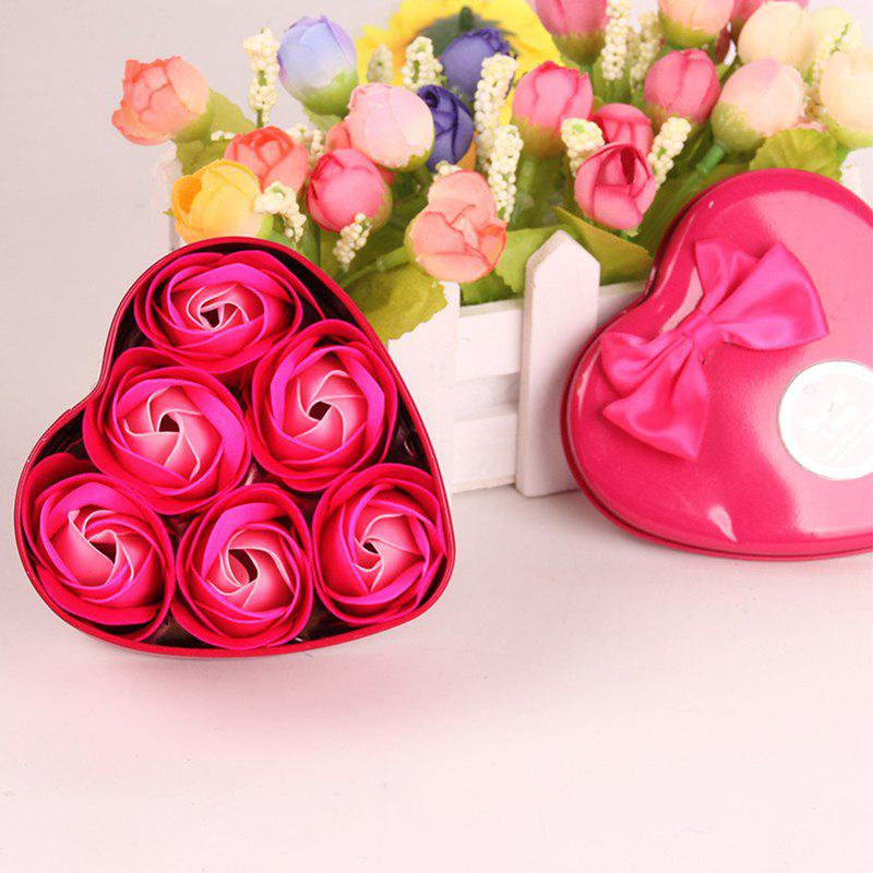 Simulation Flower Elegant Lifesome Artificial Soap Flowers With Box - ROSE RED 9.5X10X4.8CM