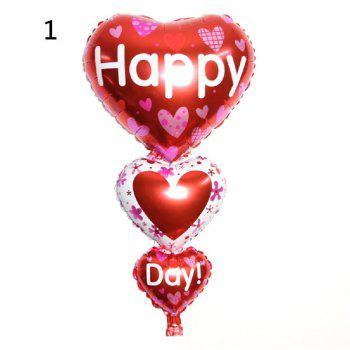 YEDUO Baloon Party Decoration Heart Engagement Anniversary Weddings Valentine Balloons - DARKRED
