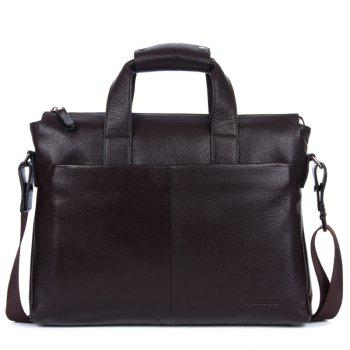 Genuine Leather Men Briefcare Brand High Quality