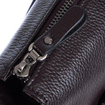 Genuine Leather Men Briefcare Brand High Quality Men'S Business Handbags Two Color Real Leather Soft Men Laptop Bag - BROWN SIZE L