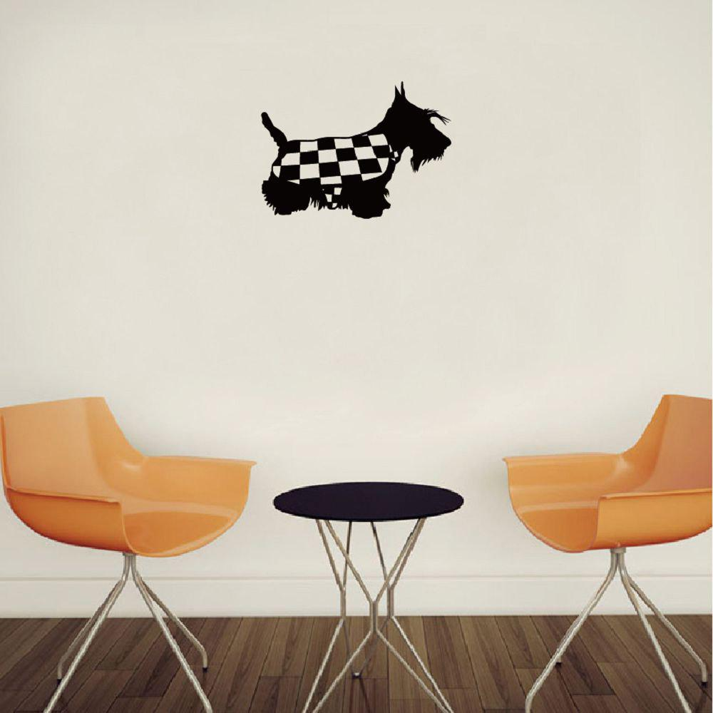 2018 dsu scottish terrier silhouette wall sticker cute cartoon pet dsu scottish terrier silhouette wall sticker cute cartoon pet dog vinyl wall decal black 20 amipublicfo Image collections