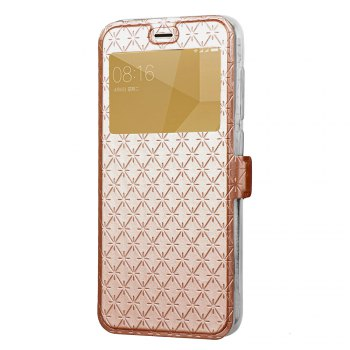 Pure Color Rhombus Ribbon Window Protection Case Cover for Xiaomi Redmi 4X - GOLDEN