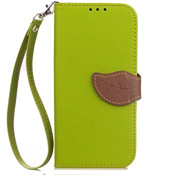 Hit Color Leaf Protection Leather Case Cover for Xiaomi Note 2 - GREEN