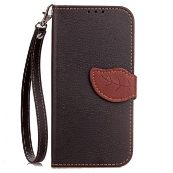 Hit Color Leaf Protection Leather Case Cover for Xiaomi Note 2 - BLACK