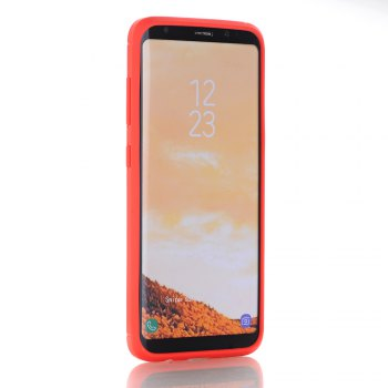Soft TPU Carbon Fiber Cover Case for Samsung Galaxy S8 - RED