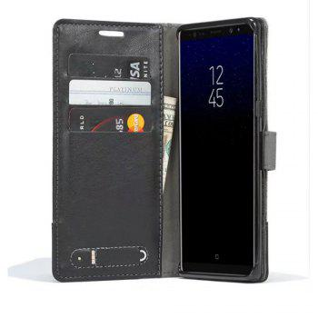 MUXMA Mixed Colors Cross Lines Retro Leather Case for Nokia 8 - BLACK