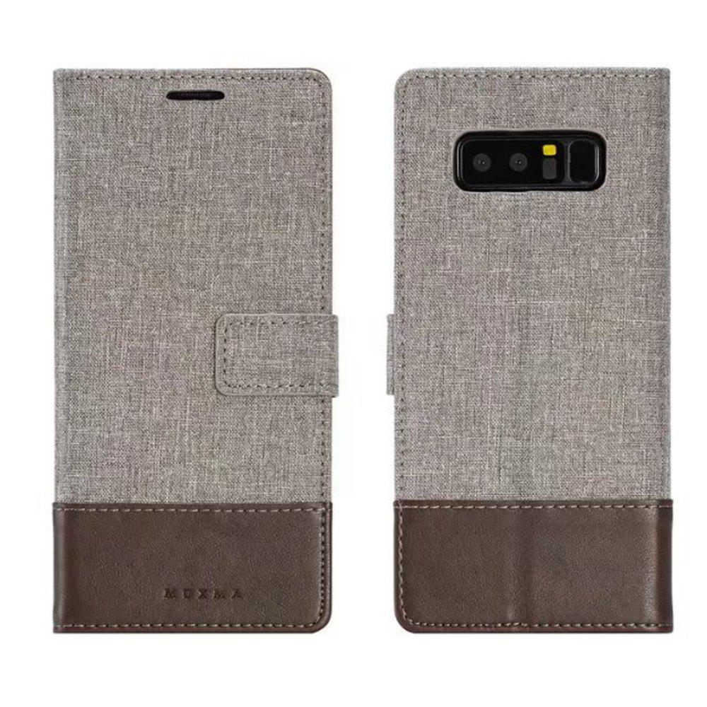 MUXMA Mixed Colors Cross Lines Retro Leather Case for Nokia 8 - BROWN