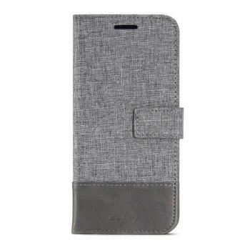 MUXMA Mixed Colors Cross Lines Retro Leather Case for Samsung Galaxy S8 - GRAY