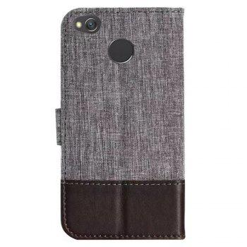 MUXMA Mixed Colors Cross Lines Retro Leather Case for Xiaomi Redmi 4X - BROWN