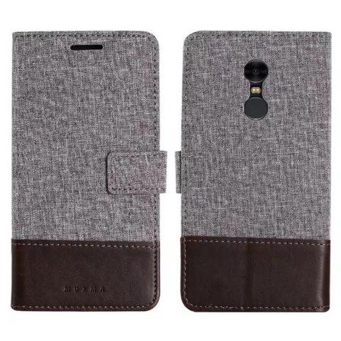 MUXMAMixed Colors Cross Lines Vintage Leather Case for  Xiaomi Redmi Note 4x - BROWN