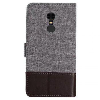 MUXMAMixed Colors Cross Lines Retro Leather Case for  Xiaomi Redmi Note 4x - BROWN