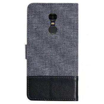 MUXMAMixed Colors Cross Lines Retro Leather Case for  Xiaomi Redmi Note 4x - BLACK