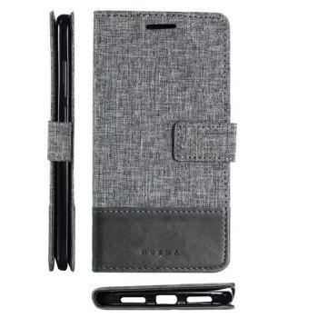MUXMAMixed Colors Cross Lines Retro Leather Case for  Xiaomi Redmi Note 4x - GRAY