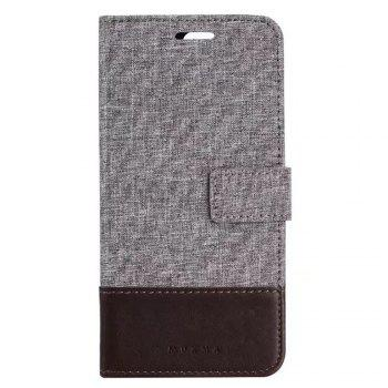 MUXMA Mixed Colors Cross Lines Retro Leather Case for Huawei P10 Plus - BROWN