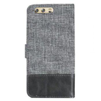 MUXMA Mixed Colors Cross Lines Retro Leather Case for Huawei P10 Plus - GRAY