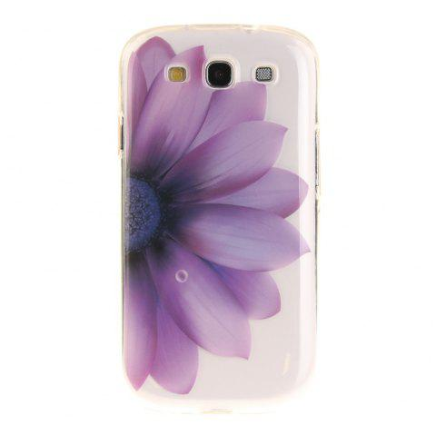 Half The Flower Soft Clear IMD TPU Phone Casing Mobile Smartphone Cover Shell Case for Samsung Galaxy S3 I9300 - DAHLIA